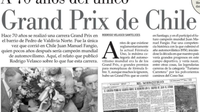 Diario El Mercurio publica destacado reportaje basado en un capítulo de nuestro libro Rugen los Motores! (en su edición del 12/12/2020)